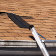 Damaged Roof Shingles Repair — Stock Photo #9297650