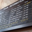 Train Station Schedule Board — Stock Photo