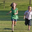 Two Kids Running — Stock Photo