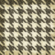 Stock Photo: Vintage Hounds Tooth Pattern