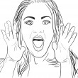 Royalty-Free Stock Vector Image: Surprised Woman