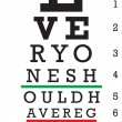 Eye Chart Vector - Stock vektor