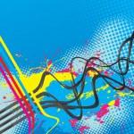 Squiggle Lines Splatter Vector — Stock Vector
