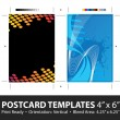 Postcard Template Designs with Copyspace — Stock Vector