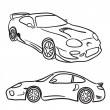 Sports Car Sketches — Stock Vector