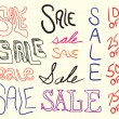 Royalty-Free Stock Vector Image: Sale Sign Doodles