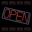 Neon Open Sign Vector — Stock Vector