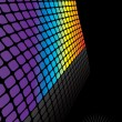 Rainbow Grid Background — Stock Vector