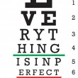 Optometry Eye Chart Illustration — Stock Vector