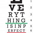 Optometry Eye Chart Illustration — Stock Vector