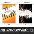 Grungy Postcard Template — Stock Vector