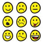 Emoticon Smiley Face Doodles — Stock Vector