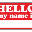 Stock Vector: Hello My Name Is Tags