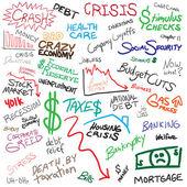 Economy Doodles — Stock Vector