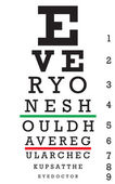 Eye Chart Vector — Stock Vector