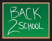 Back To School Chalkboard — Stock Vector