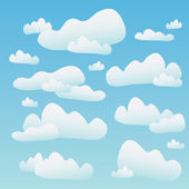 Fluffy Blue Clouds — Stock Vector