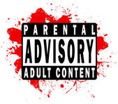 Parental Advisory Label — Stock Vector