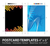 Postcard Template Designs with Copyspace — Vector de stock
