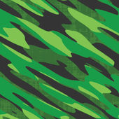 Green Camo Seamless Vector — Stock Vector