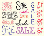 Sale Sign Doodles — Vector de stock