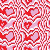 Heart Seamless Vector — Stock Vector