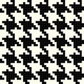 Black and White Vector Houndstooth Texture — Stock Vector