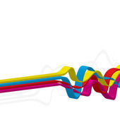 3D Squiggle Lines — Stock Vector