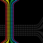 Rainbow Circles Layout — Stock Vector