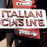 italiensk mat neonskylt — Stockfoto