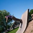 Skate Park Concrete Skate Ramp — Stock Photo