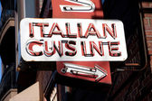 Italian Cuisine Neon Sign — Stock Photo