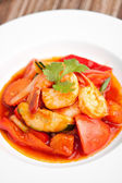 Sweet and Sour Prawns Dish — Stock Photo