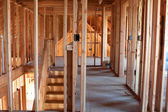 Unfinished Home Framing Interior — Stock Photo