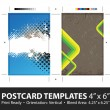 Grungy Postcard Templates — Stock Vector