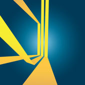 Layout di strisce gialle astratta — Vettoriale Stock