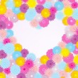 Background with flowers and heart — Imagen vectorial