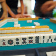 An ancient Chinese game called Mahjong as a way to spend your fr - Stock Photo