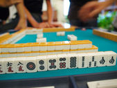 An ancient Chinese game called Mahjong as a way to spend your fr — Stock Photo