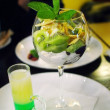 "Stock Photo: Cocktail ""green mexican"" with dessert"