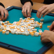 Stock Photo: Game of mahjong