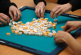 Game of mahjong — Stock Photo