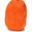 Royalty-Free Stock Photo: Ball of orange threads white background