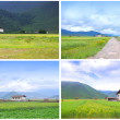 Village overview — Stock Photo