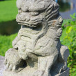 lion de Pierre sculpture, Chine — Photo