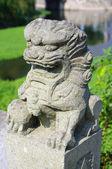 Stone Lion sculpture, China — Stock Photo