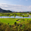 Stock Photo: Golf courses and lakes
