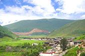 Paesaggio con villaggio — Foto Stock