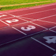 Stock Photo: Stadium track