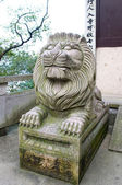 Asiatic Lion statue — Stock Photo